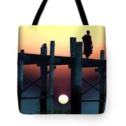 Sunset Over The U Bein Foot Bridge 2 Tote Bag