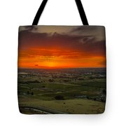Sunset Over The Valley Tote Bag by Robert Bales