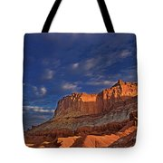Sunset Over The Waterpocket Fold Capitol Reef National Park Tote Bag