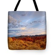 Sunset Over Valley Of Fire State Park In Nevada Tote Bag