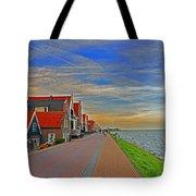 Sunset Over Volendam Tote Bag
