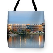 Sunset Over Watergate Tote Bag