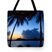 Sunset Overlooking Jupiter Lighthouse Tote Bag