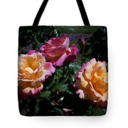 Sunset Painted In Roses Tote Bag