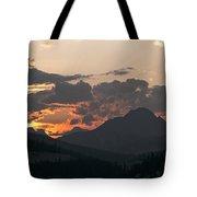 Sunset Panorama Banff National Park Tote Bag