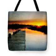 Sunset Pier Tote Bag