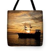 Sunset Pirate Cruise Tote Bag
