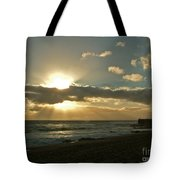 Sunset Porthleven Cornwall Summer 2005 Tote Bag