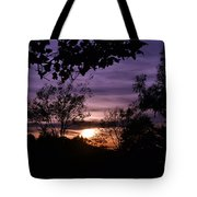 Sunset Purple Sky Tote Bag