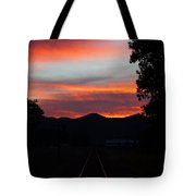 Sunset Rail In The Rogue Valley Tote Bag
