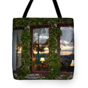 Sunset Reflection On Empress Window Tote Bag
