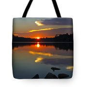 Sunset Reflection On The Lake Tote Bag