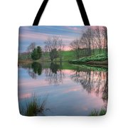 Sunset Reflections Square Tote Bag