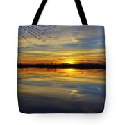 Sunset Riverlands West Alton Mo Dsc03329 Tote Bag