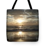 Sunset Sail Tote Bag by Crystal Joy Photography