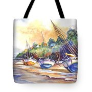Sunset Sail On Brittany Beach  Tote Bag