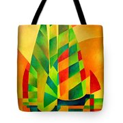 Sunset Sails And Shadows Tote Bag