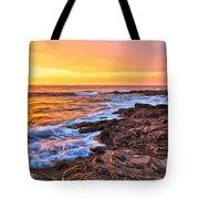 Sunset Shore Break Tote Bag