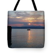 Sunset. Sirmione. Lago Di Garda Tote Bag