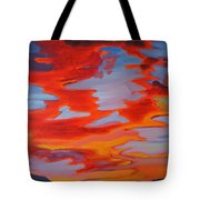 Ruby Red Sunset Tote Bag
