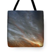 Sunset Sky With Cirrocumulus Clouds Usa Tote Bag