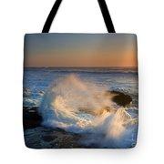 Sunset Spray Tote Bag