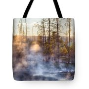 Sunset Steam Tote Bag