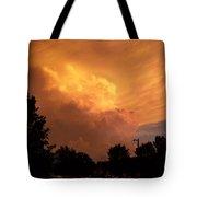 Sunset Storm Tote Bag