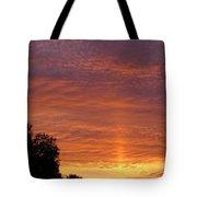 Sunset Sunburst Tote Bag