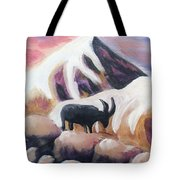Sunset Swiss Goat Tote Bag
