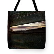Sunset Throough The Fence Tote Bag