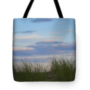 Sunset Through Grass Tote Bag