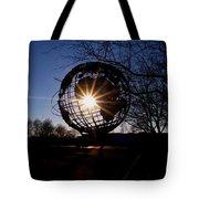 Sunset Through The Unisphere Tote Bag