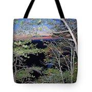 Sunset Thru The Pines Tote Bag
