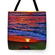 Sunset Turtle By Diana Sainz Tote Bag