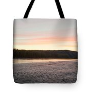 Sunset Twilight Over Taiga At Yukon River Canada Tote Bag