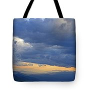 Sunset Under The Clouds Tote Bag