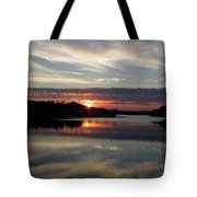 Sunset Up The Sebec Tote Bag