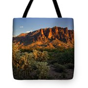 Sunset View Of The Superstitions  Tote Bag