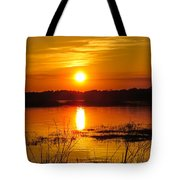 Sunset Walk In The Water Tote Bag