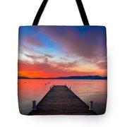 Sunset Walkway Tote Bag