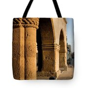 Sunset Wall Of The Old City Tote Bag
