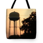 Sunset Water Tower Tote Bag