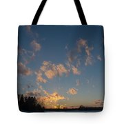 Sunset Winter Lanscape Tote Bag