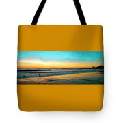 Sunset With Birds Tote Bag