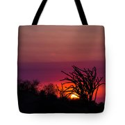 Sunset With Octopus Tree Tote Bag
