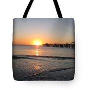 Fishingpier Sunset Tote Bag