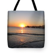 Fishingpier Sunset Tote Bag