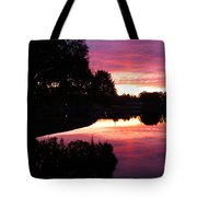 Sunset With Reflection Tote Bag
