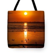 Sunset With The Birds Photo Tote Bag